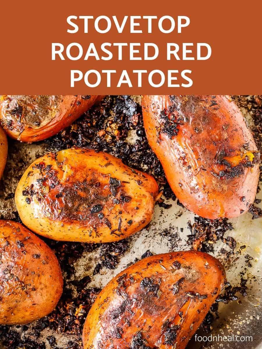 Garlic skillet roasted potatoes, pan roasted potatoes, roasted potatoes,