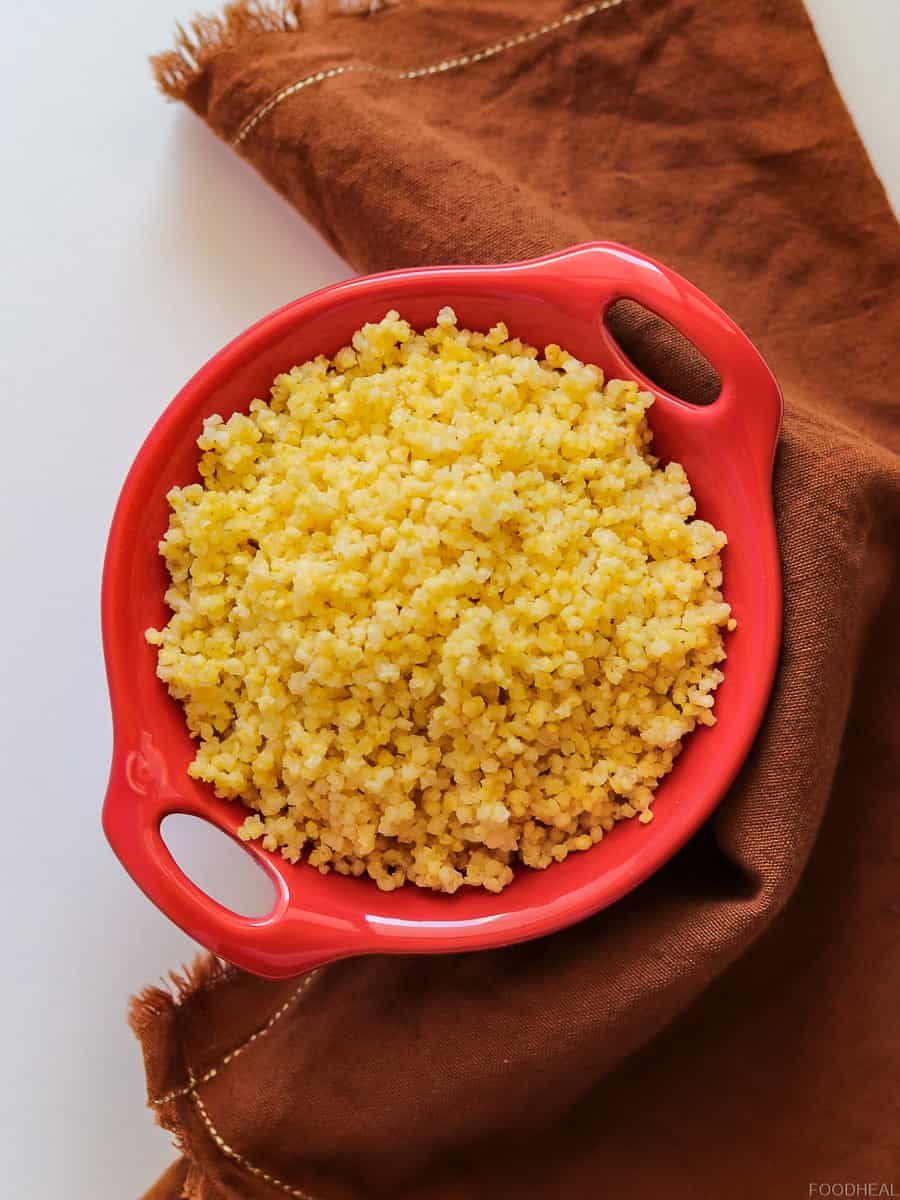 fluffy cooked millet. Millet recipe
