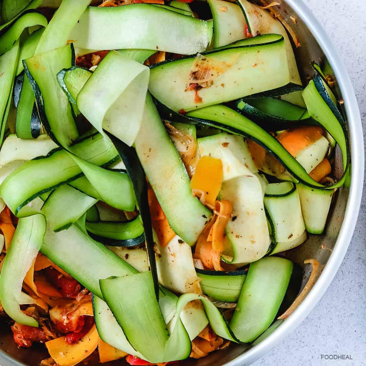 zucchini ribbons, zucchini noodles, zucchini pasta