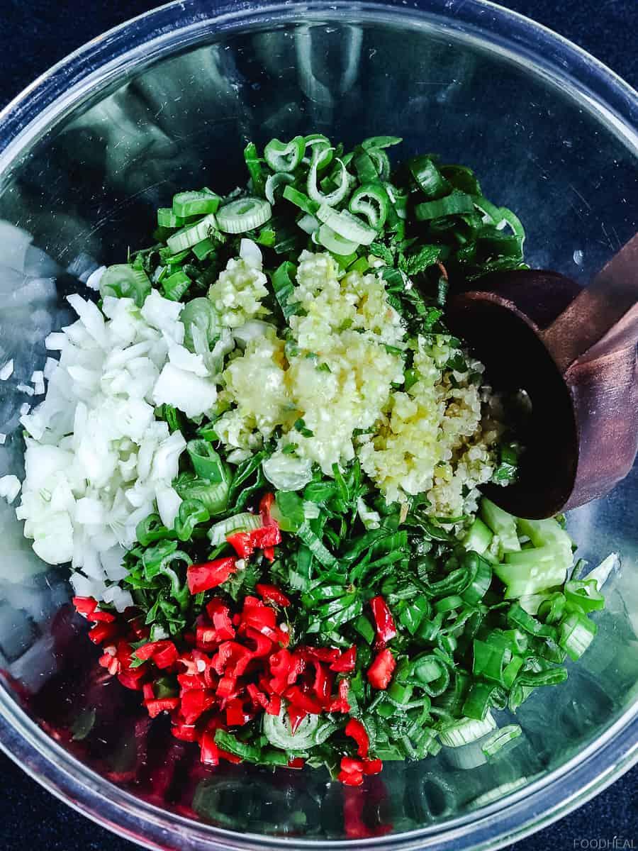 garlic & fresh herbs