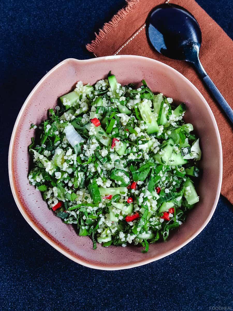 quinoa salad, vegan salad, tabouleh, Mediterranean quinoa salad, quinoa recipes,