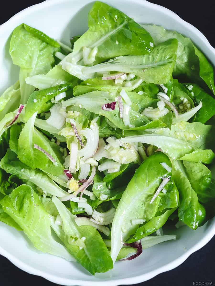 lettuce salad with garlic butter lettuce salad