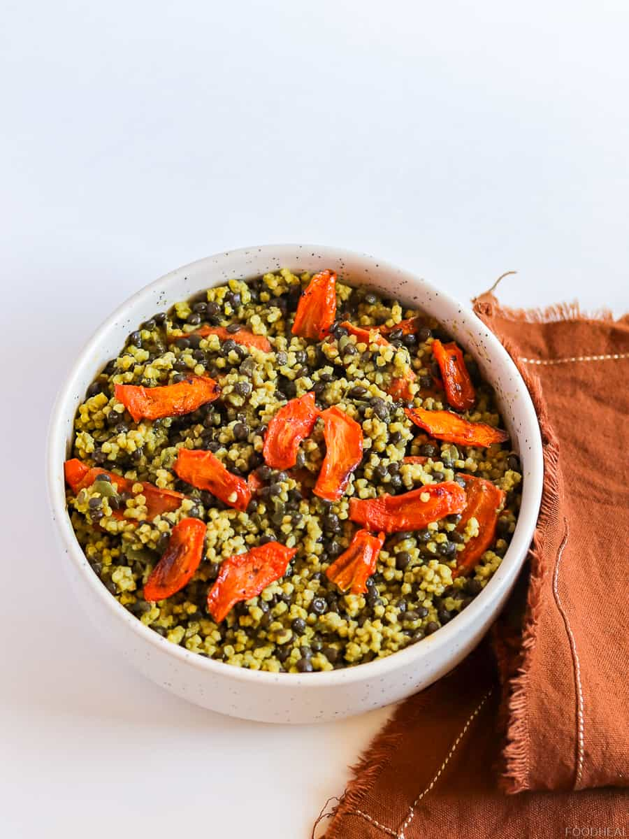 millet and black lentils. Millet recipe. Lentils recipes