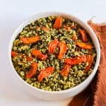 millet and roasted carrots