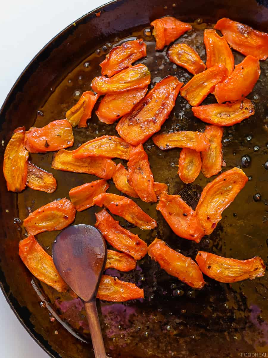 pan roasted carrots, carrot recipes