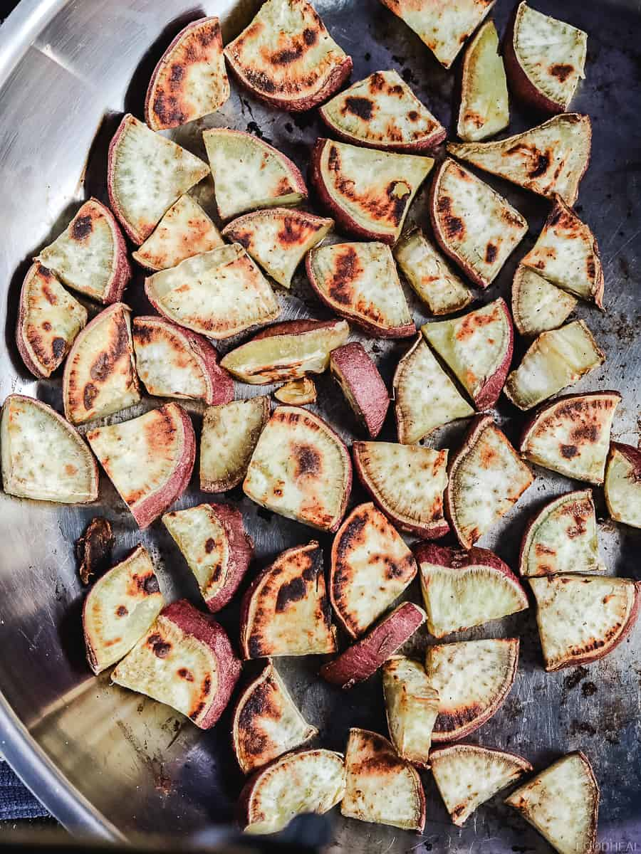 roasted sweet potato pan roasted sweet potato