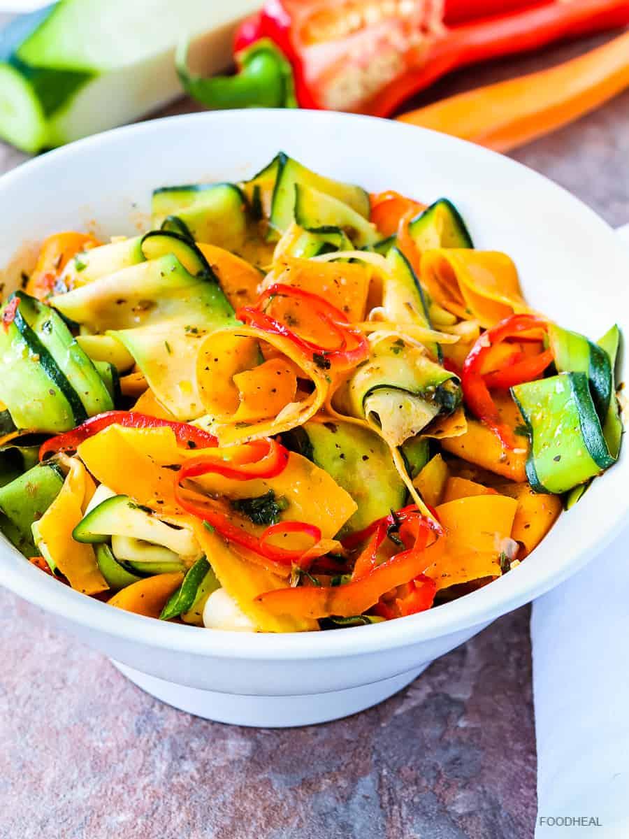 Zucchini ribbon pasta, zucchini pasta, zucchini noodles